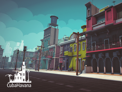CubaHavana indiegame unity assets cartoon toon town city