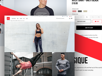eCommerce Design for Sports Clothing