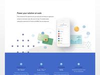 fintech website redesign