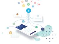 Fintech website illustration
