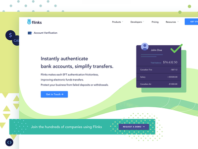 Account verification page fintech illustration design illustration layout ui website design digital banking finance authentication bank accounts product page api account verification fintech