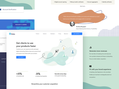 SOLUTIONS branding design ui website layout illustration fintech solutions