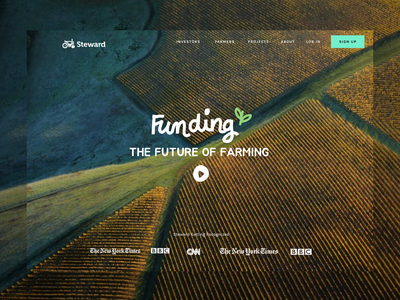 Agricultural funding website design user interface ux product design funding sketch landing page product procreate illustration app layout website