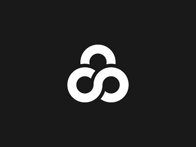 Infinite Security security infinite designer graphic design design minimal clean fresh circles monochrome logo