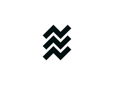Up N Down upndown logo monochrome geometry fresh clean minimal design graphic design designer brand identity branding