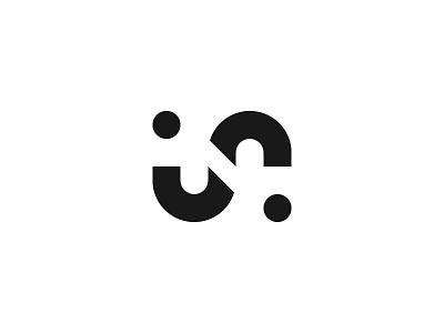 NJR Ambigram new bw negative space clean minimal monochrome branding brand identity design logo ambigram