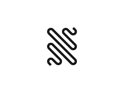 N Wave minimal vector dribbble new shot brand logo wave style monogram typography letter n letter