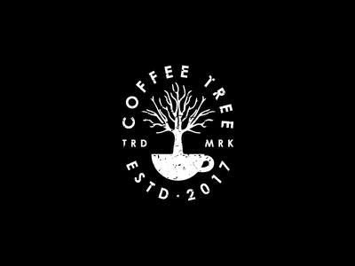Coffee Tree cool vintage classic tree coffee trade mark sign symbol mark brand logo