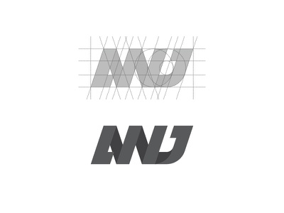 ANJ Final Design (Grid) cool process grid artwork monochrome graphic design design logo