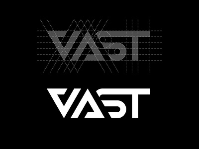 Vast Visual Logo Process (Grid) branding vector studio geometrical cool process grid artwork monochrome graphic design design logo