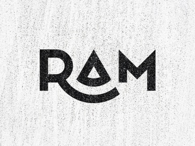 RAM Wordmark branding graphic design monochrome sharp minimal simple typeface lettermark ram designer design logo