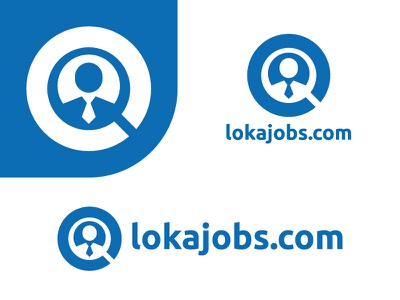 lokajobs.com employer worker professional cool website place search job jobs blue design logo