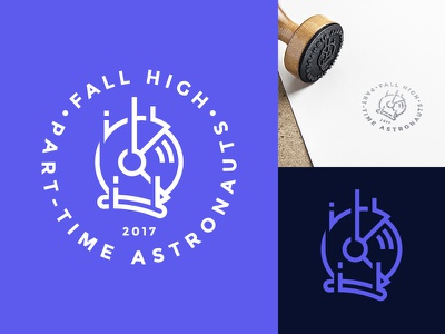 First Concept for Fall High sport helmet stamp astronaut merchandise apparel clothing sky diving brand rebranding design logo