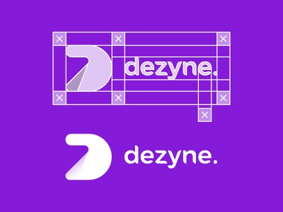 Dezyne Logo & Wordmark icon modern illustrator shadow cool process grid studio purple dezyne design logo
