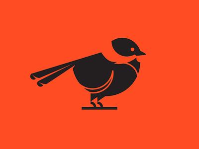 Chickadee chickadee bird circles bold mark icon logo design graphic design vector illustration