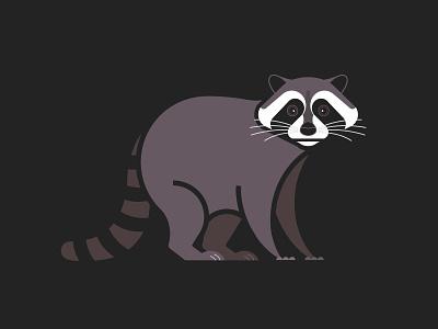 Trash Panda <3 geometric illustration animal art animal rubbish burglar trash panda geometric animal geometric art vector illustration raccoons raccoon