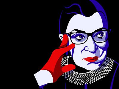 Ruth. equality supreme court notorious rbg rbg ruth bader ginsburg vector portrait editorial illustration illustration