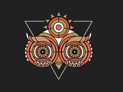 Existential Owl owl logo owl illustration geometric abstract owl vector illustration