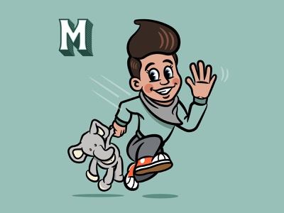 Mav dribbble 01 character cartoon retro illustration