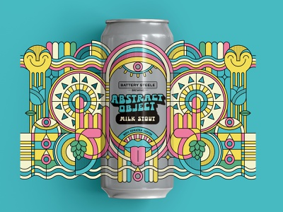 Abstract Object, Flavor 2 geometric abstract milk stout stout beer label label beer can
