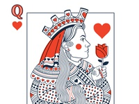 Queen of Hearts detail