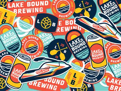 Lake Bound Brewing Sticker Pack