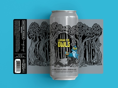 Looking for Owls owl illustration packing cookie stout brewery micron pen forest owls labeldesign packagedesign craft beer owl beer design graphic design illustration