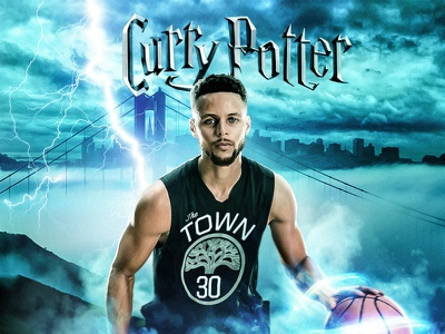 Steph Curry 30 - Harry potter characters photoshop poster design graphic design movie card movie poster digital art retouch visual