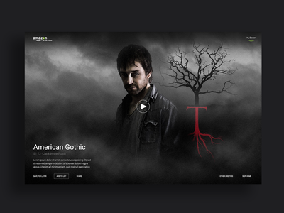 American Gothic post production photo editing noir broadcast vod card movie amazon player visual ux ui