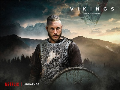 Vikings Photo compositing retouch photo editing photo compositing poster movie card vikings series design visual graphic design