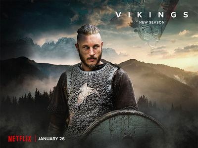 Vikings Photo compositing retouch photo editing photo compositing poster movie card vikings series design visual graphic design
