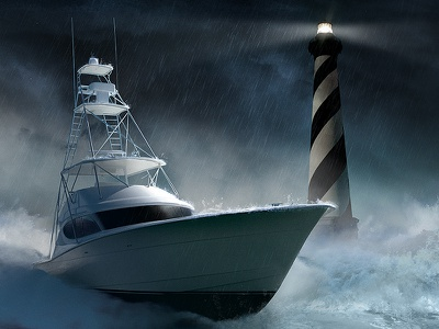 Put a Yacht in the Storm.. advertising filter photoshop digital art illustration branding retouch photo editing graphic design visual photo compositing