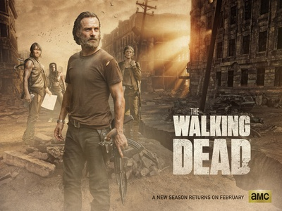 The Walking Dead -TV Series apocalyptic tv series movie card photoshop digital art poster movie character retouch photo compositing graphic design the walking dead