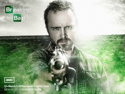 Breaking Bad - Pinkman Poster Before/after