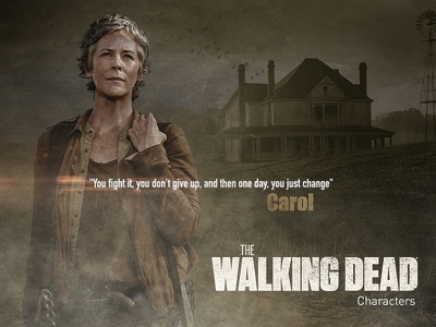 The walking dead - Carol vector typography tv series the walking dead retouch photoshop movie card graphic design digital art detail compositing characters