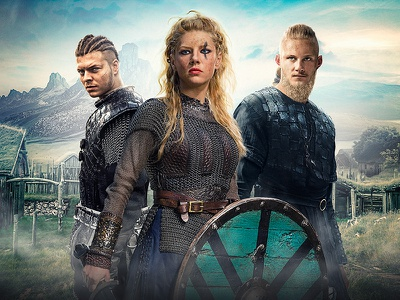 Vikings Series - poster composition webdesign ui composition visual movie digital art retouch post production poster vikings series