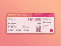 Boarding Pass of Dribbble Airline