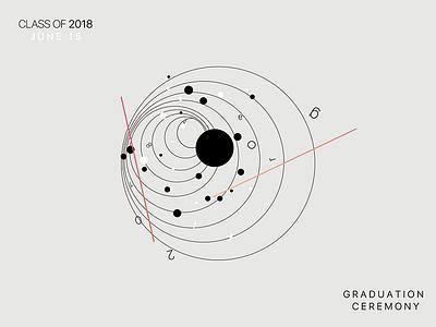 """grad18"" ICC Class of 2018 visualization graduation invites high-school"