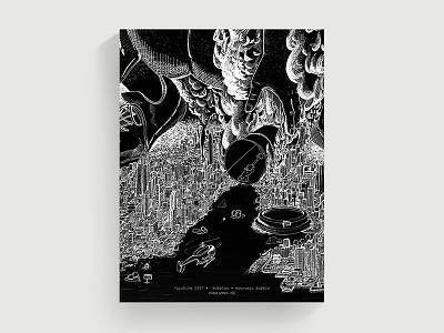 Illustration Poster illustration cover-design poster cover cityview bubble tea