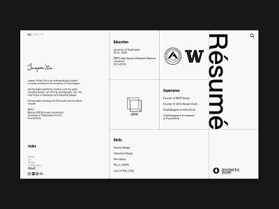 Resume Page - Web Design 3 logodesign layout grid design web design website
