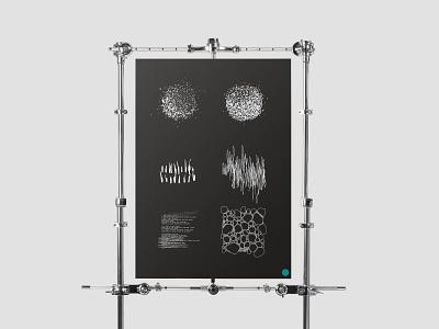 Sound Viz art direction fineliner dots branding design branding grid design illustration poster cover-design