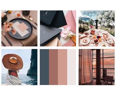 Moodboard wedding palette branding brand identity logo