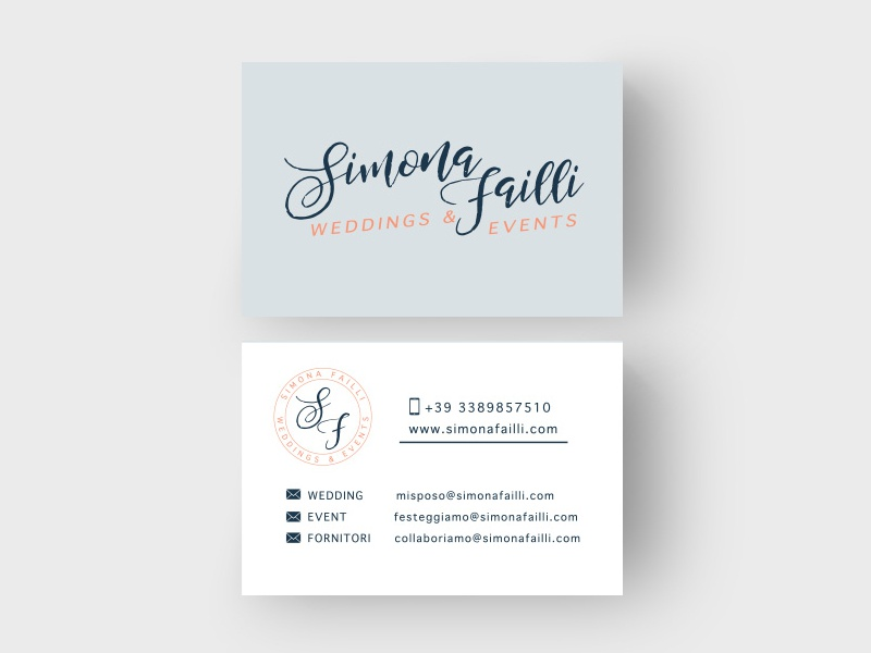 Simona Failli Brand design + correlate products biz card business card branding
