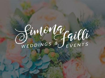 Simona Failli Brand design brand design wedding logo