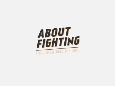 About Fighting - Brand design brand design logo branding