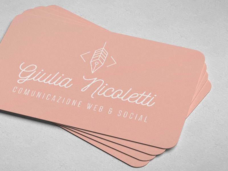 Brand design Giulia Nicoletti modern writing typography thin logo identity branding