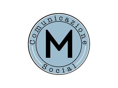 Variant logo typewriter blue variant branding logo monogram
