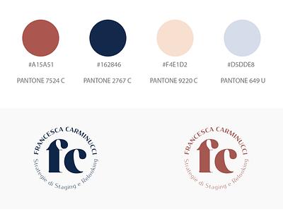 Variant logos palette circle variant logo monogram
