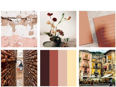 Moodboard palette color inspiration moodboard