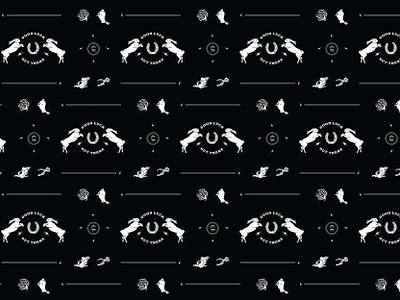 Lost Luck Co. Tissue Pattern white rabbit horseshoe good luck procreate illustrator branding graphic design design illustration vector